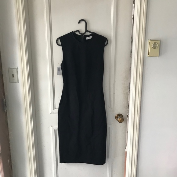 Babaton Black Mid-length Pencil Dress